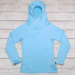 PATAGONIA WOMENS EXTRA SMALL HOODED WORKOUT SHIRT